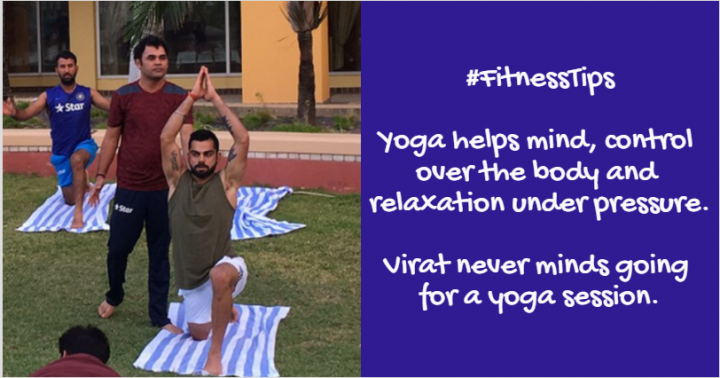 virat kohli fitness tips - yoga session doesn't hurt