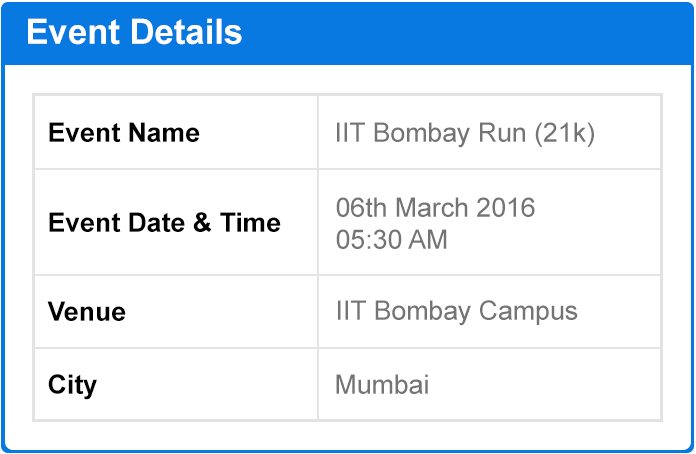IIT Bombay Run