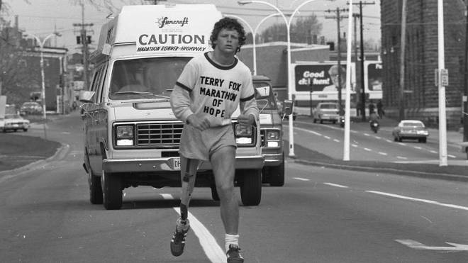 Terry Fox start of his journey