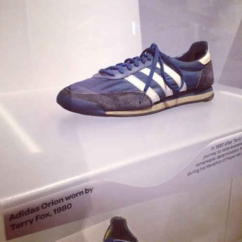 Terry Fox pair if shoes at museum