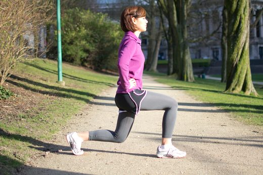 dynamic pre-run stretching, pre-running _ Omni Channel Lunges