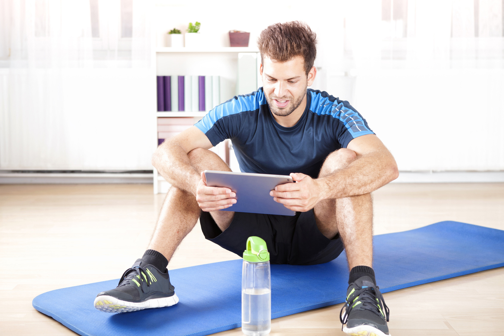 getting inspired from coach in online fitness training