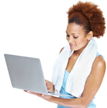 online fitness training can be done anytime with laptop