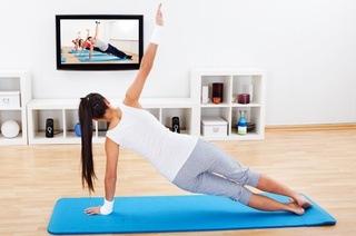 Online fitness training using TV
