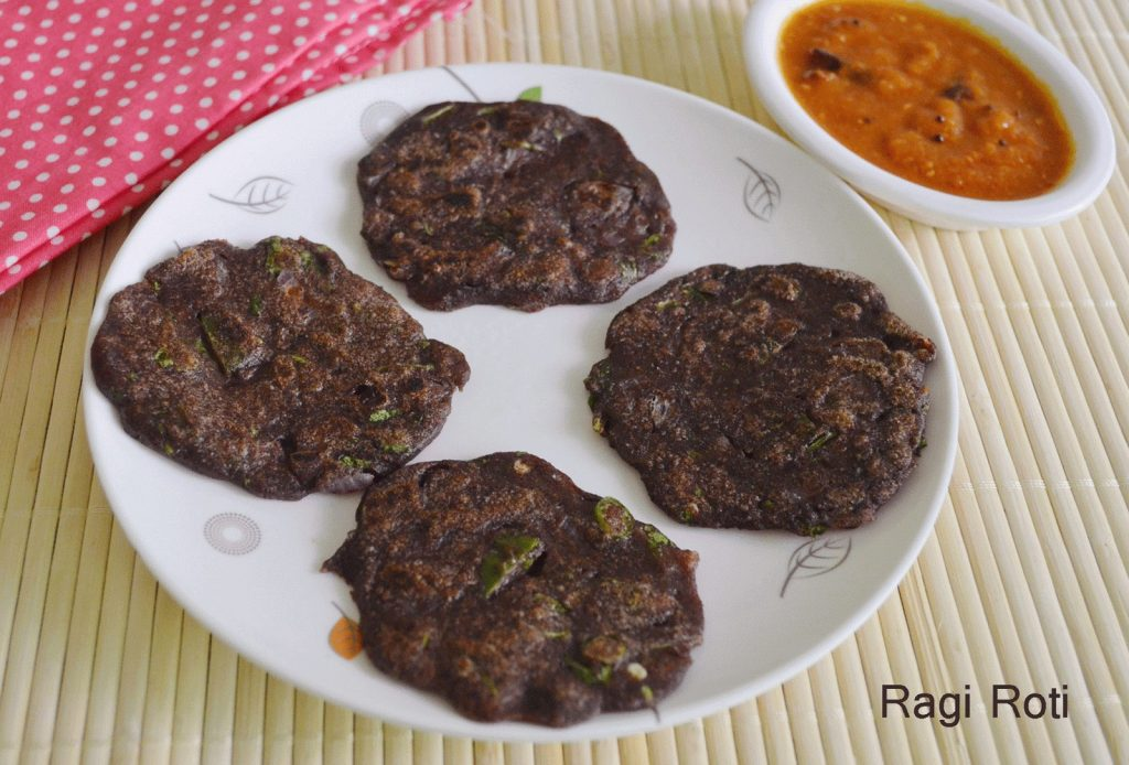 Ragi roti, chapati, ragi - Ragi food recipes