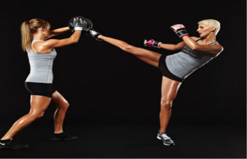 girl kickboxing to lose weight