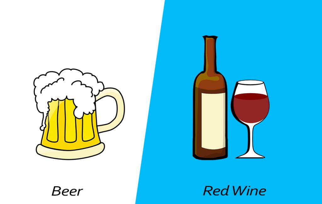 Intelligent food swap - Red Wine over Beer