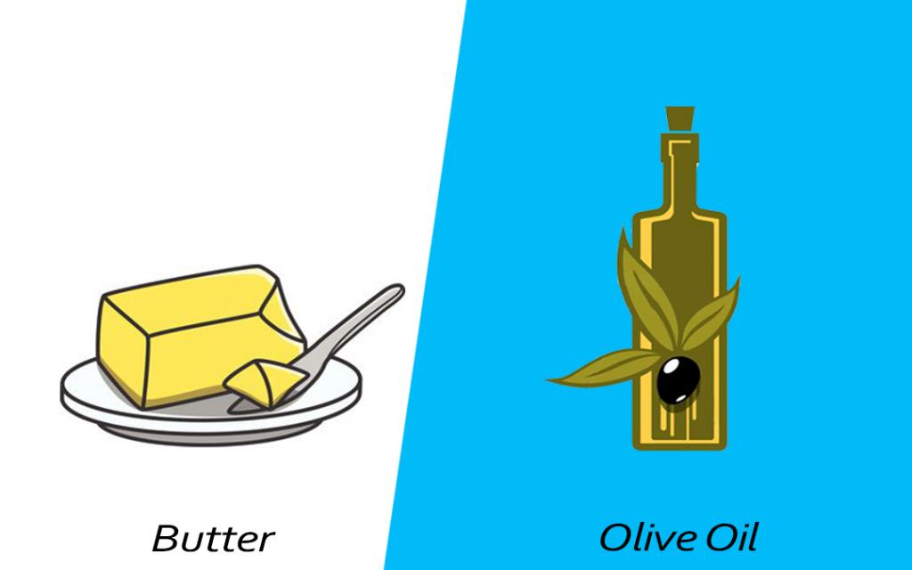 Intelligent food swap - Olive oil over butter