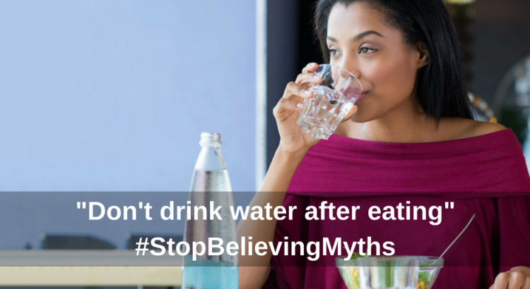 Drinking water myth