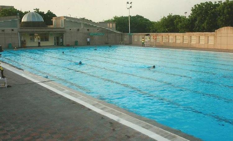 chilla sports complex : best swimming pool in delhi