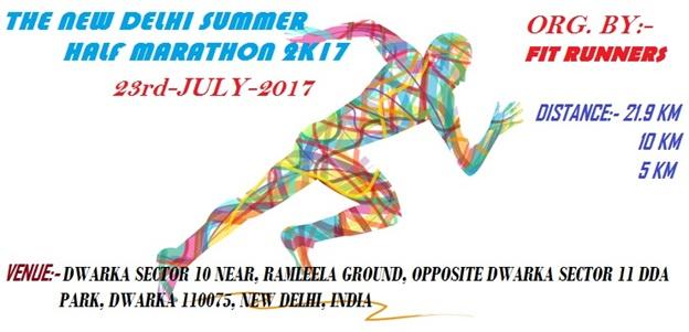 delhi summer half marathon : running event in delhi