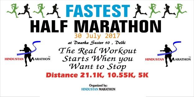 fastest half marathon : running events in delhi