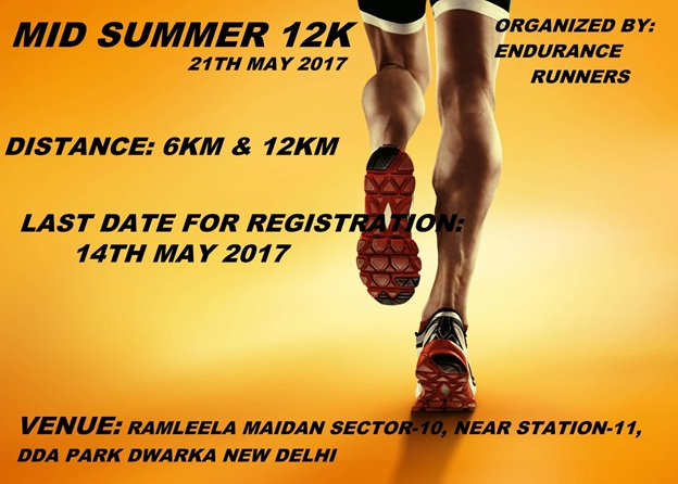 mid summer 12k : running events in delhi