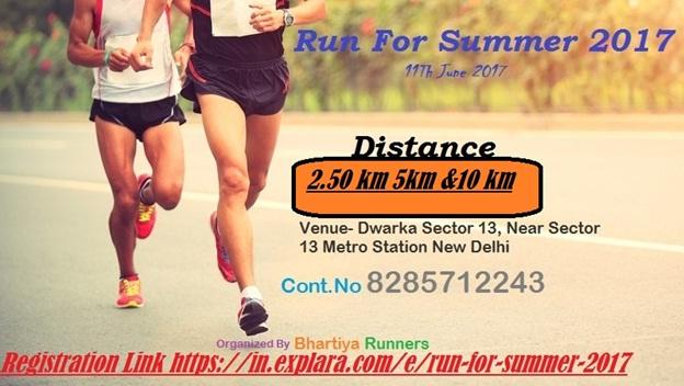run for summer : delhi running events