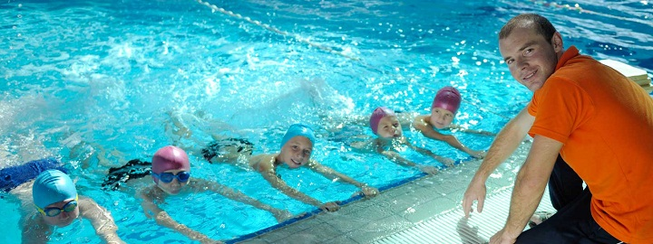 swimming lesson coaching