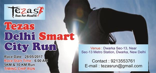 tezas run for health : running event in delhi
