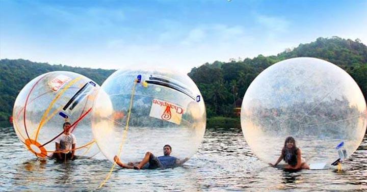 water zorbing sports in goa