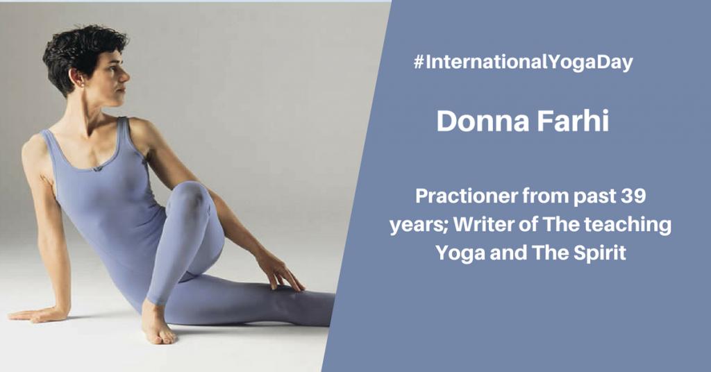 Dona Farhi - best female yoga instructor