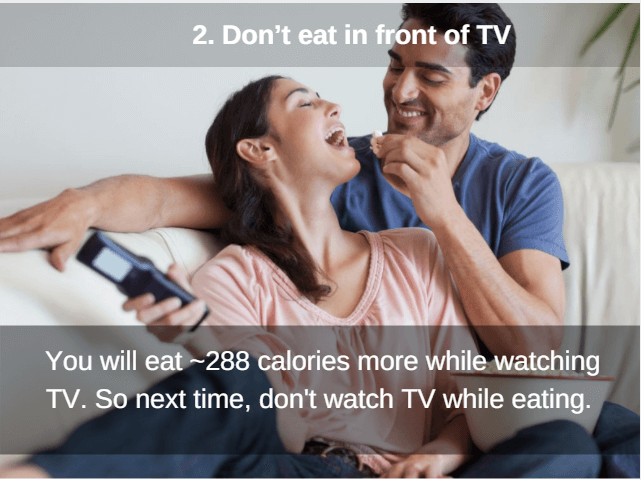 don't eat in front of tv to cut calories