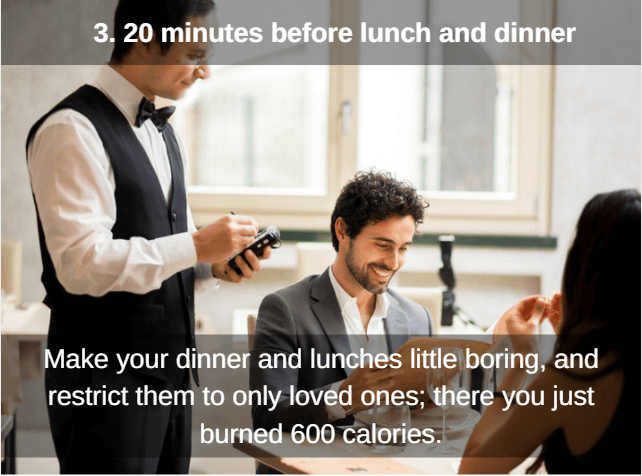 eat with limited people to cut calories