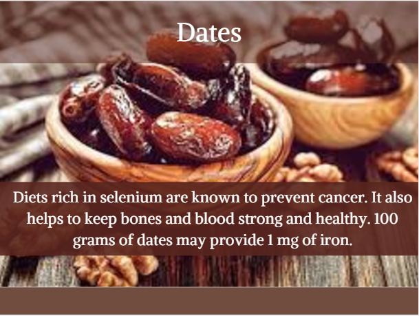 Dates - Indian iron rich foods