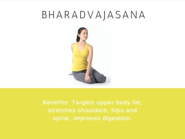 Bharadvajasana- Ramdev baba yoga for weight loss