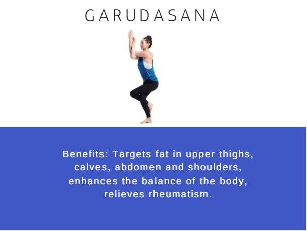 Garudasana- Ramdev baba yoga for weight loss