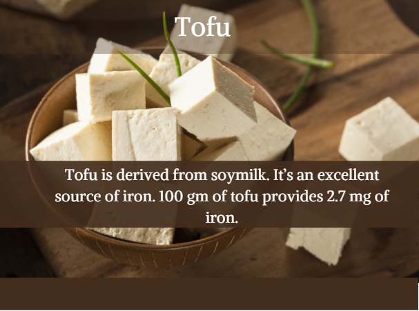 Tofu - Indian Iron rich food options