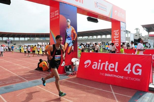 airtel marathan run on day
