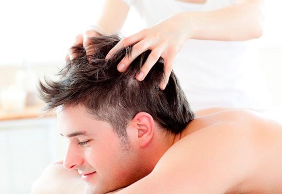 head massage : Ayurvedic medicine for thyroid