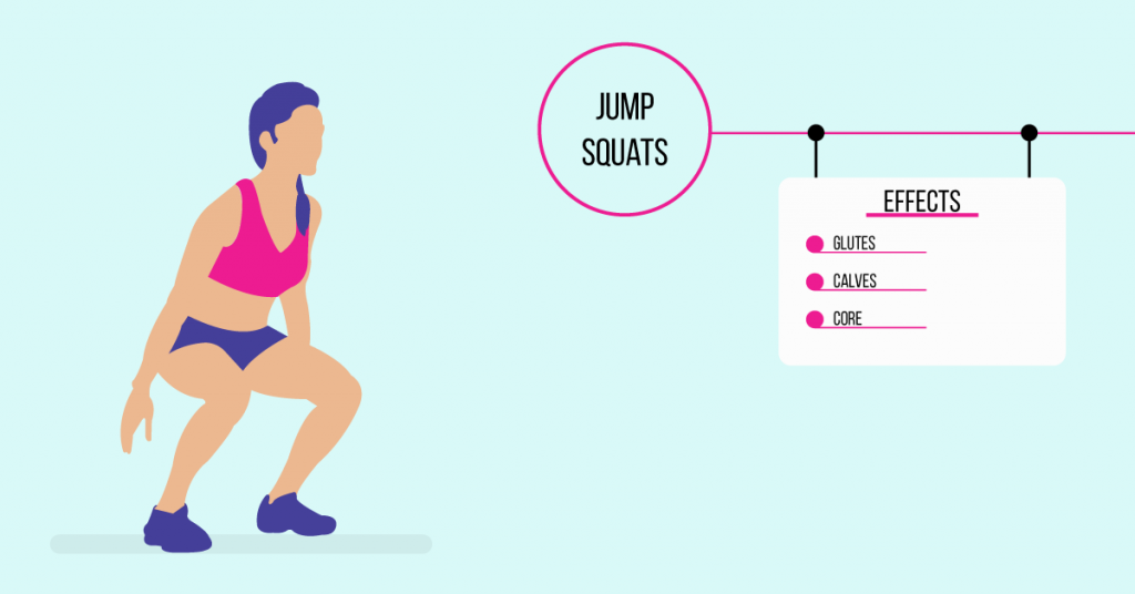 jump squats: exercises for weight loss