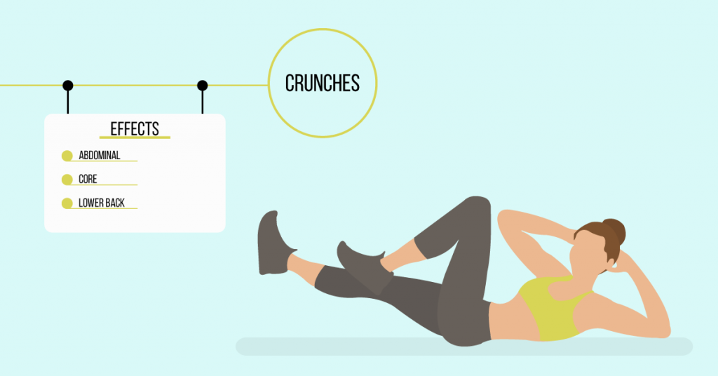 crunches: exercises for weight loss