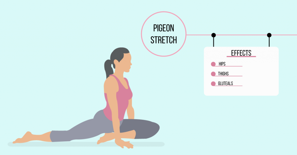 pigeon stretch: exercises for weight loss