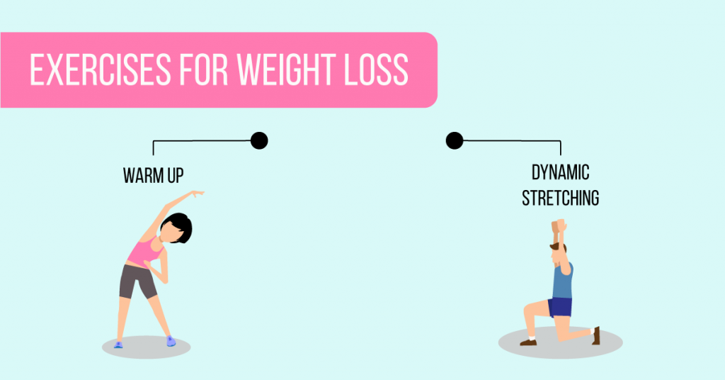 warm up: exercises for weight loss