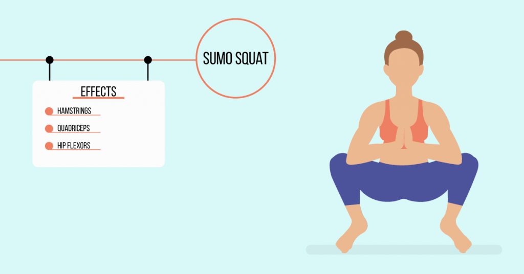 sumo squat: exercises for weight loss
