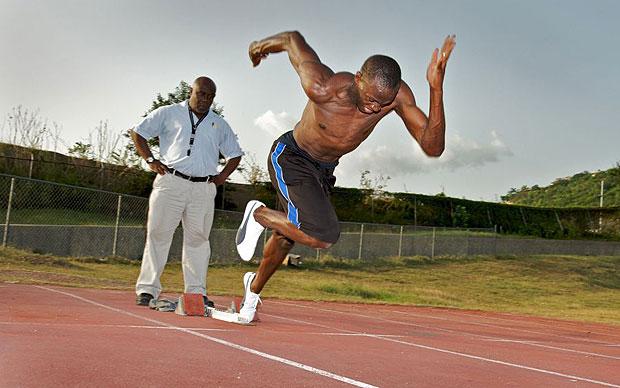 Usain Bolt training