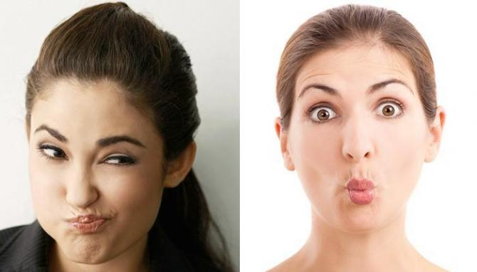 cheek twist: face fat remove exercise