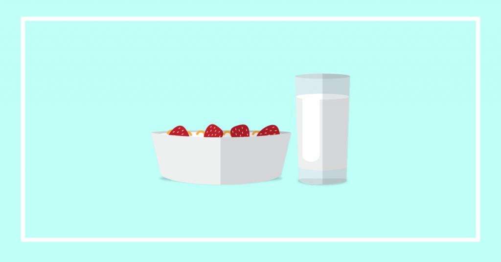fruit with milk