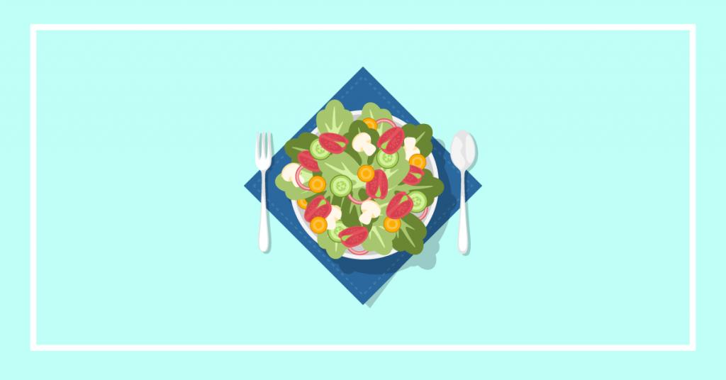 salad with salt
